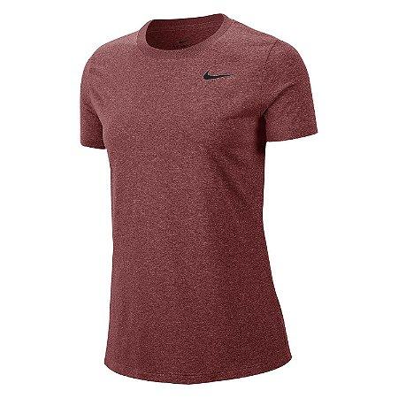 Camiseta Nike Dry Leg Tee Crew Feminina Vinho