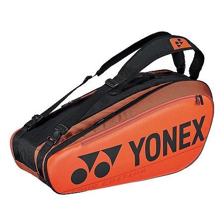 Raqueteira Yonex Pro X6 - Laranja/Preto
