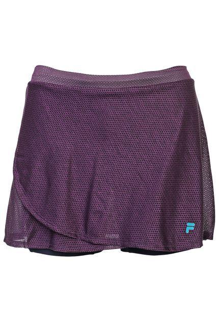 Saia Shorts Fila Spring Roxo