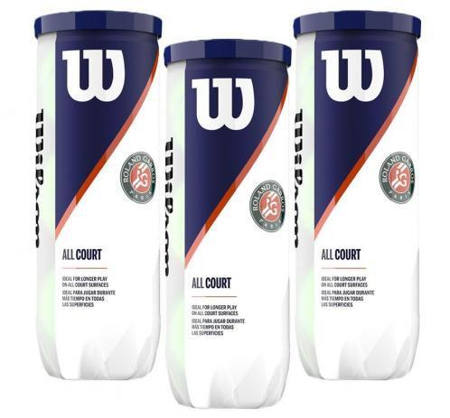 Bola de Tênis Wilson Roland Garros Pack C/ 3 Tubos