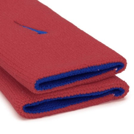 Munhequeira Comprida Nike Dri-Fit Dupla Face - Vermelho e azul