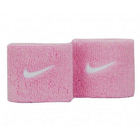 Munhequeira Curta Nike Swoosh Wristbands - Rosa Claro