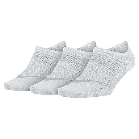 Meia Nike Soquete Feminina PERF Lightweight Footie - 3 Pares Branca 34 ao 38