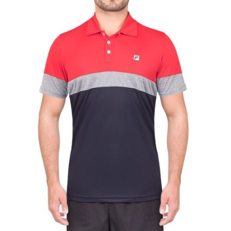 Camisa Polo Fila Block Melange II - Vermelha