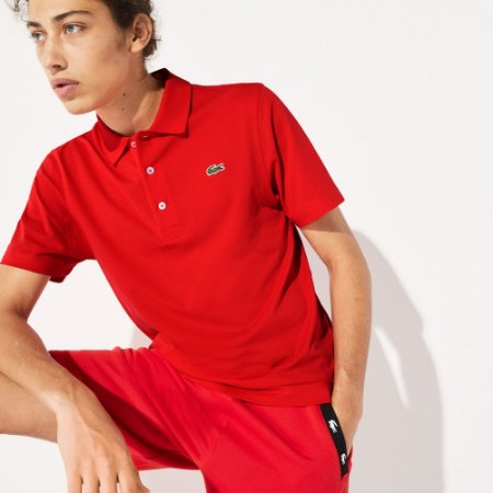Camisa Polo Lacoste Sport Tennis Regular Fit Masculina em Malha Superleve - Vermelha (S5H)