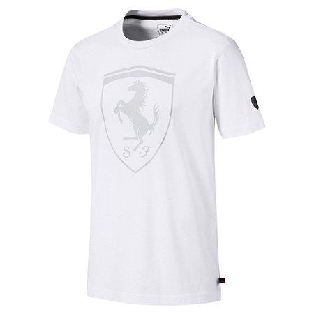 Camiseta Puma Ferrari Big Shield - Branca