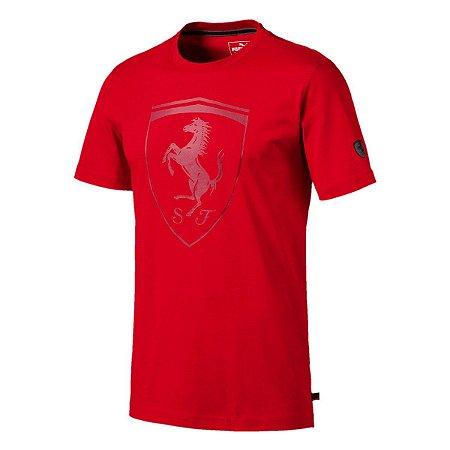 Camiseta Puma Ferrari Big Shield - Vermelha