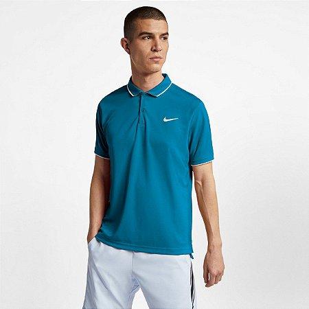 Camisa Polo Nike Court Dri-fit - Azul