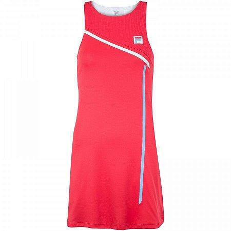Conjunto Vestido Fila Team 84 - Vermelho e Branco