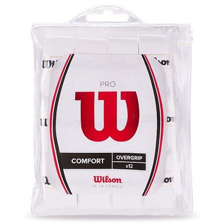 Pack de Overgrip Wilson Pro Comfort - Branco (12 Un)