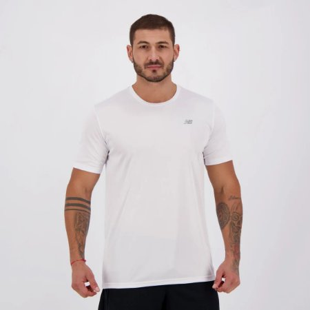 Camiseta New Balance PES Performance 100% Poliéster - Branco