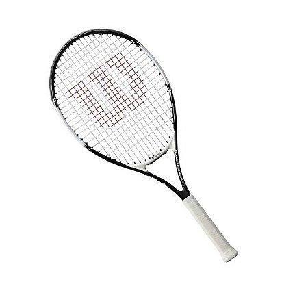 Raquete de Tennis Infantil Wilson Federer 26 - Preta e Branca