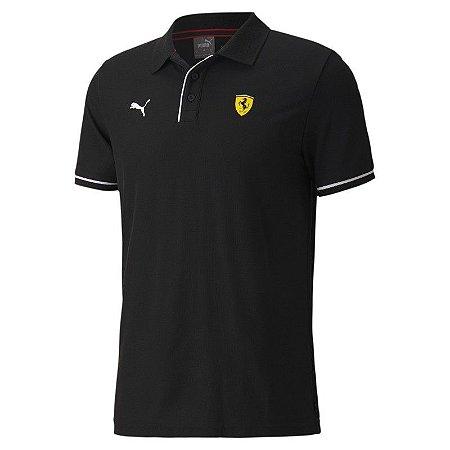 Camisa Polo Puma Scuderia Ferrari Race - Preta