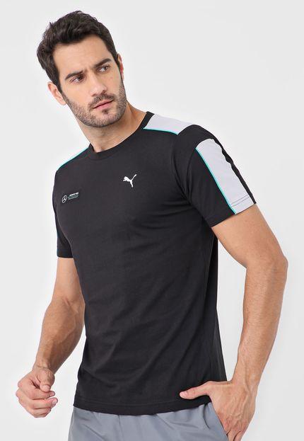 Camiseta Puma Mercedes MAPM T7 Tee - Preta