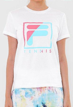 Camiseta Fila Soft Urban Acqua - Branca