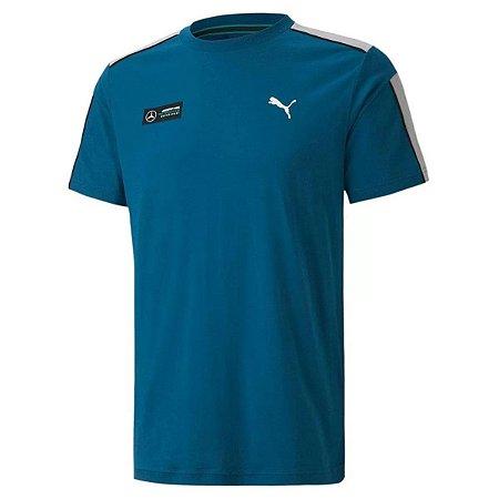 Camiseta Puma Mercedes MAPM T7 Tee Digi Blue Azul
