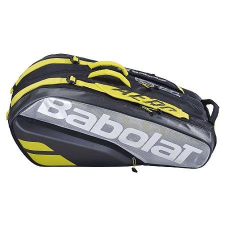 Raqueteira Babolat Pure Aero X9 - Preta e Amarelo