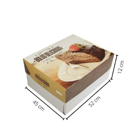 Cx Bolo BR-07   52x45x12 cm. Pacote c/10 unid. Valor unid. R$ 9,42