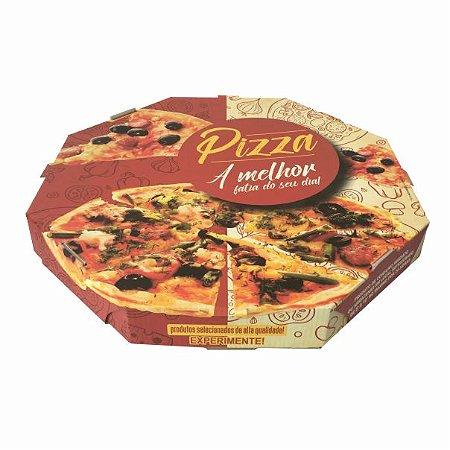 CxPizza 25cm.    25x25x4 cm. Pacote c/ 25 unid. Valor unid. R$ 3,39
