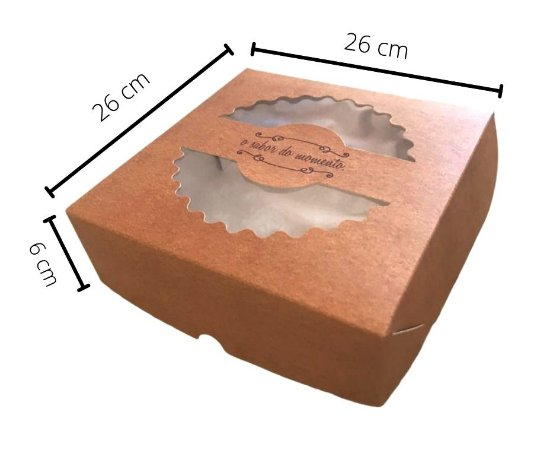 Cx TOR-26 medidas 26x26x6 cm. Pacote c/25. Valor unid. R$ 3,48