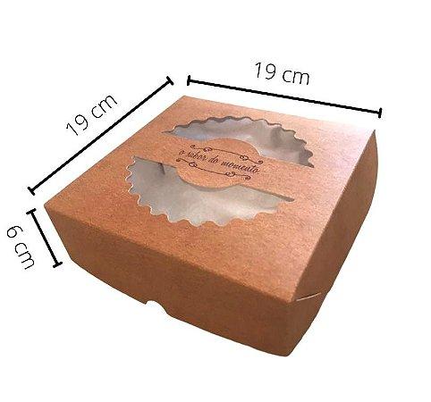 Cx TOR-19 medidas 19x19x6 cm. Pacote c/25. Valor unid. R$ 2,97