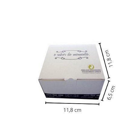 Cx H02 -  11,8x11,8x6,5 cm. Pacote com 50 unid. Valor unid. R$ 1,14