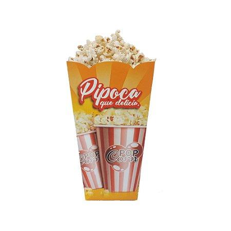 Cx Pipoca P - 9X9X16 cm.  Pacote com 50 unid. Valor unid. R$ 0,84
