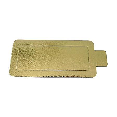 Suporte Doce Ouro 02 --- C 130 x L 60 mm.  Pacote com 50 unidades