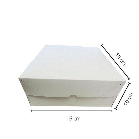 Cx branca BO-01/B 16x15x10 cm.Pacote c/10 unid. Valor unid.R$ 2,55