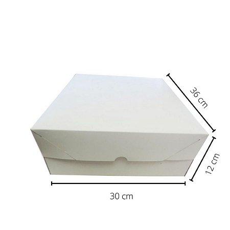 Cx Branca BR-04/B  36x30x12 cm. Pacote c/10 unid. Valor unid.R$ 5,87