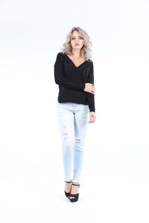 BLUSA TRICOT HAPPY HOUR - PRETO