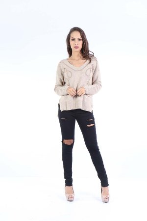 BLUSA TRICOT HAPPY HOUR - BEGE