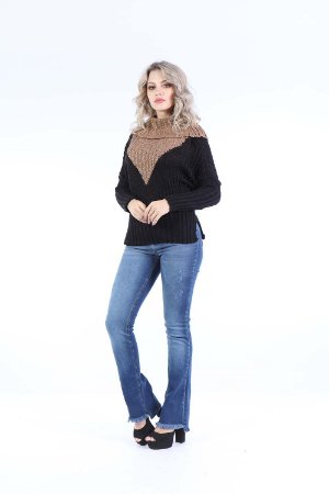 BLUSA CASUAL TRICOT - CHOCOLATE