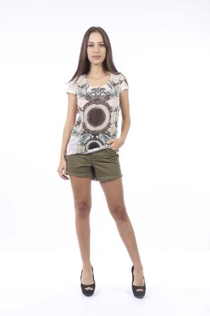 SHORTS HOT PANTS COLOR - VERDE MILITAR