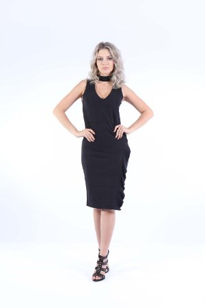 VESTIDO BABADO HAPPY HOUR - PRETO