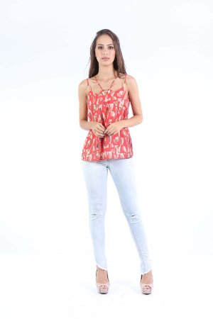 REGATA CASUAL - ABSTRACT RED