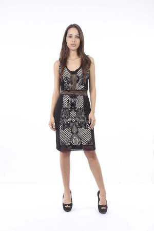 VESTIDO HAPPY HOUR JACQUARD - PRETO