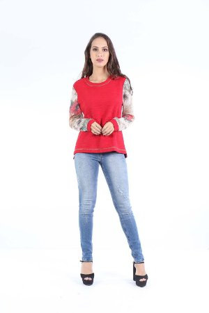BLUSA MANGA LONGA CASUAL - WINTER RED