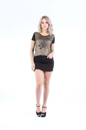 T-SHIRT HAPPY HOUR METALICA - DOURADO