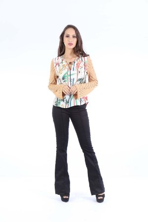 CAMISA HAPPY HOUR TRICOT - TERRAL FLOWERS OFF