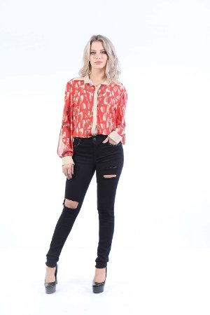 CAMISA CASUAL - ABSTRACT RED