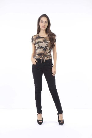 CROPPED CASUAL AMARRACAO FRONTAL - CREAM ARMY