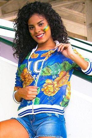 Jaqueta Bana Bana Bomber Brasil Azul