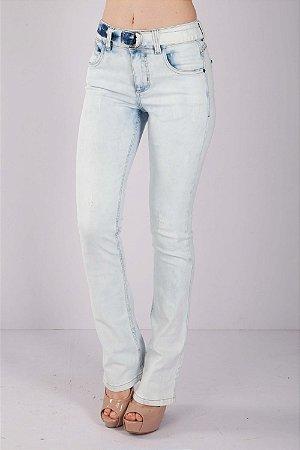 Calça Jeans Bana Bana Midi Boot Cut com Cinto