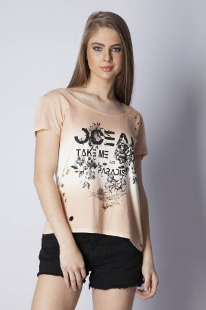 T-SHIRT CASUAL - BEGE