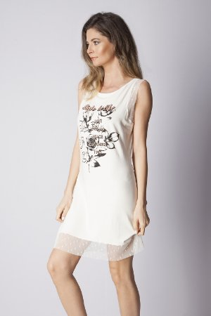 VESTIDO CASUAL - OFF-WHITE