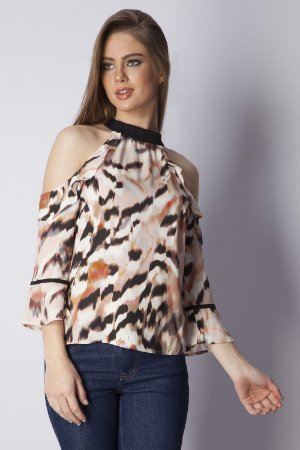 BLUSA HAPPY HOUR ESTAMPADA - TIGER COLORS