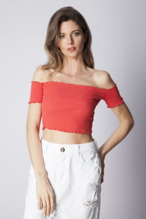 CROPPED TINGIMENTO - CORAL