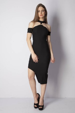 VESTIDO HAPPY HOUR ARGOLA METAL - PRETO