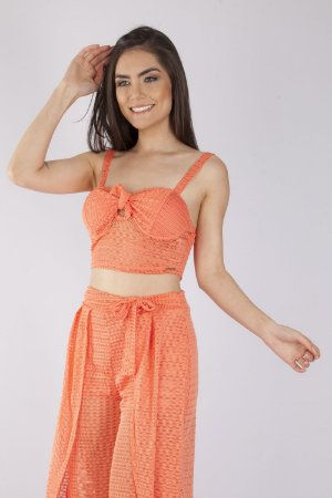 CROPPED HAPPY HOUR - CORAL